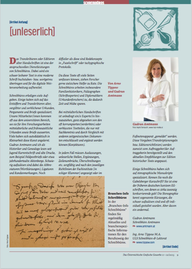 AMTMANN Handschriften