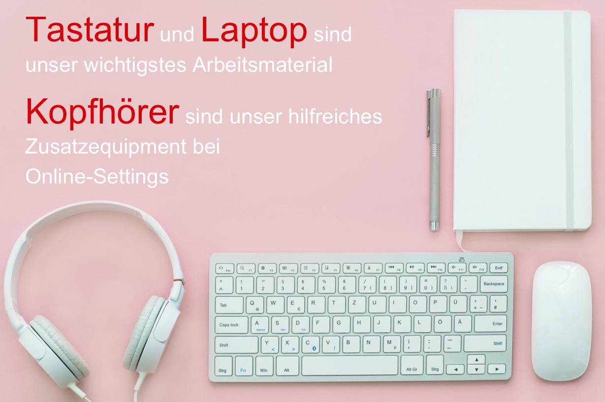 Equipment für Online-Schriftdolmetschservice